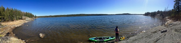 Kayaking on Vee Lake