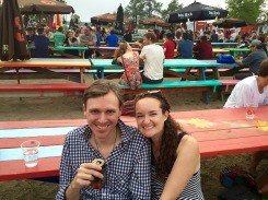 Amanda and her buddy Joel Plaskett just hanging out in the Beer Garden
