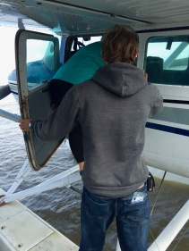 Loading up the Float Plane
