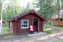 Helga's humble abode for our stay on Little Doctor Lake